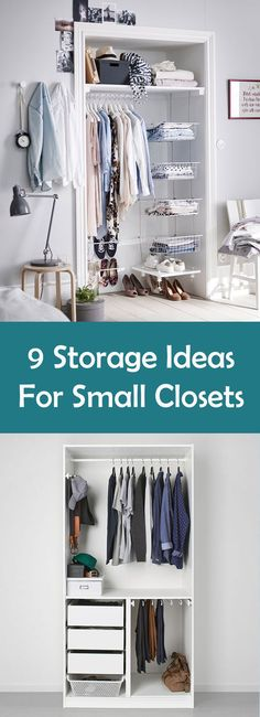 Closet Organizing Ideas designs for small closets | white reach in closetssmall master