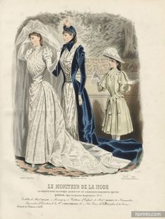 Le Moniteur de la Mode 1890 N°2588 Toilettes Guillot, Barbey, Passementerie Maison Toche & Mellerio
