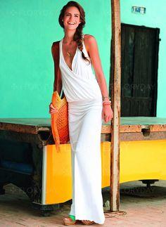 Dresses -  42.99 - Polyester Solid Sleeveless Maxi Elegant Dresses  (1955138536) Letní Oděvy e10d814820