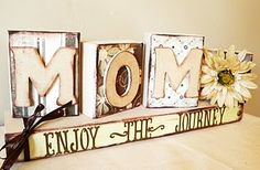 Block Letters with cute paper