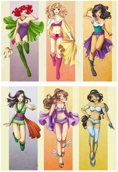 Super Disney Princesses -not fond of sleeping beauty but love the rest