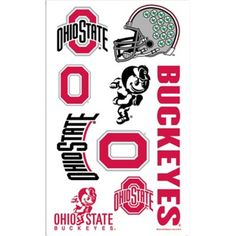 Get your fellow Buckeyes fans ready for game time with Ohio State Buckeyes Tattoos. Each package includes seven Ohio State Buckeyes temporary tattoos. Buckeyes Football, Ohio State Football, Ohio State University, Ohio State Buckeyes, American Football, Personalized Party Favors, Kids Party Supplies, Tattoo Removal, Baby Oil