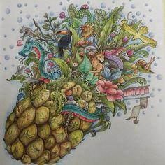 Arte do feriado! #coloriage. #coloringbookforadults #imagimorphiacolouringbook #kerbyrosanes