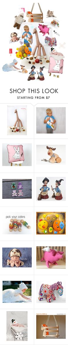 """""""child's world"""" by recznedzielo-pl-jirsa-felt ❤ liked on Polyvore featuring interior, interiors, interior design, home, home decor and interior decorating"""