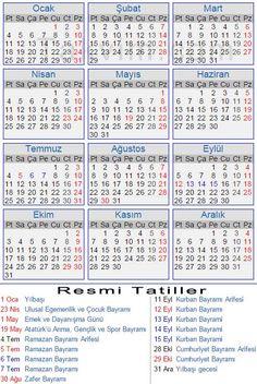2016 Yılı Takvimi - Takvim.com