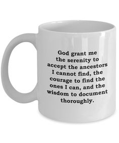 Amazon.com: Genealogists Ancestors Funny Genealogy Mug Gift for Genealogist Family History Tree Research Sarcastic Coffee Cup: Kitchen & Dining