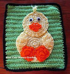 Crochet-Baby Duck Applique $2.00