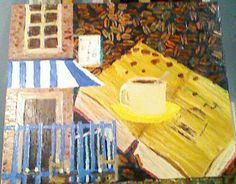 Cafe huile a la spatule Photos, Painting, Canvases, Pictures, Photographs, Painting Art, Paintings, Painted Canvas, Cake Smash Pictures
