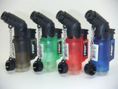 Prof Angled Neck, Blowtorch, Windproof, Electronic, Refillable, Jet Lighter, Gas Turbo, Red, Blue, Green, Black £2.99 - Fun for a Fiver - Awesome stuff and gift ideas for a fiver or less.