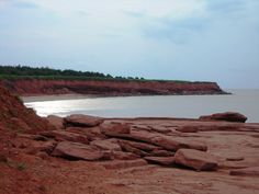 The red, red soil of Prince Edward Island
