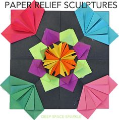 Play with paper relief sculptures with fourth, fifth and sixth grade students.