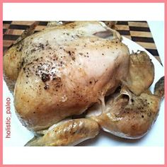 Roast chicken just out of the oven. #dinner #preparation #foodphotography #paleo #paleodiet #primal #huntergatherer #jerf #cleaneat #naturalfood #fitdiet #fitnessfood #fitlife #healthylife #realfood #cavegirl #grokette #primalliving #nutrition #eatwell #f
