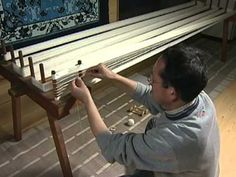 video on Yuki-tsumugi, a Japanese silk-weaving technique recognized as a Unesco Intangible Cultural Heritage of Humanity in 2010 #textile_art #weaving