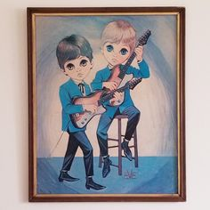 My art collection-lol! Vintage Homes, Retro Home, Big Eyes, Guitars, Mid-century Modern, Eve, Cool Designs, My Arts, Therapy