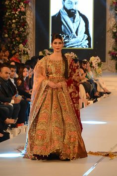 PFDC LOreal Paris Bridal Week 2015 Ali Xeeshan Dresses Collection Photo Gallery