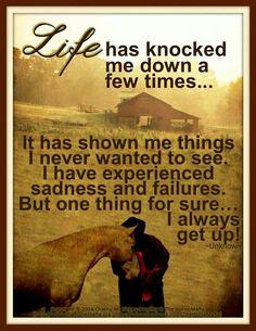 Always get up