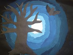 Great tinting lesson for Halloween  I am going to do this project with my…