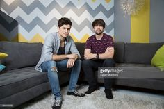 Comedic YouTube duo of SMOSH, Anthony Padilla, left, and Ian Hecox, right, are…
