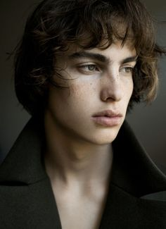 Lucas Ucedo — freckles. lips. fashion. male models. character inspiration.