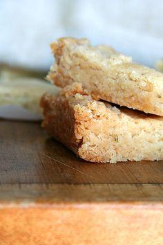 Really yummy rosemary shortbread courtesy of Melissa Clark.