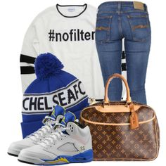 """""""Untitled #11"""" by trillest-fashionx on Polyvore cheap Air Jordan 5 LANEY only $ 54, save up to 68% off"""