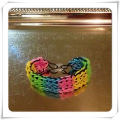 Rainbow Rubber Band Bracelet Multicolor by OnceUponACraft4U, $4.99