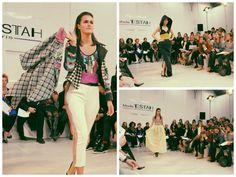 Collage défilé, les Robes de Soirée, Tweed & Carreaux  www.mode-estah.fr