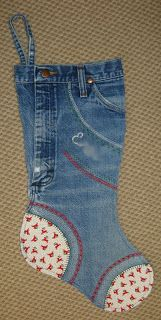 Use those worn out jeans!  Too cute.