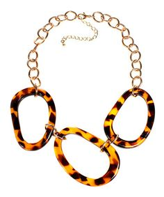 Take a look at this Tortoise Oval Necklace by Majestic on #zulily today!