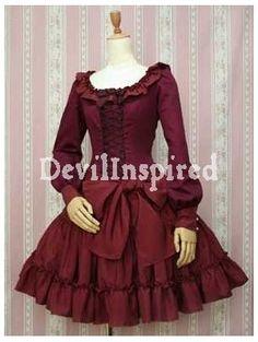 Oversize Bow Ribbon Lacing Classic Lolita Dress