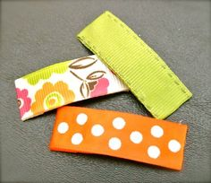 Step-by-step tutorial on how to make homemade barrettes #DIY crafts, #homemade barrettes, #barrettes