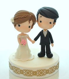 Cute Bride and Groom Topper - SugarEd Productions Online Classes