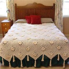 Create a family crochet heirloom treasure that will be passed on for many generations. Curlicue Coverlet Pattern is a delicate crochet pattern that you can't help but fall in love with. The vintage crochet beauty comes out after completing the coverlet and placing it on your bed for display. Your children will pass on stories and memories each time they pass on the coverlet to a new generation. Made in individual squares, this beautiful project is easy to take with you. Pack up your cr