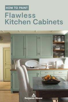 With Benjamin Moore's ADVANCE® paint, a DIY kitchen cabinet refresh can be more affordable than replacing the cabinets outright—and done in less time than you think. Painting Cabinet Doors, Painting Wood Cabinets, Repainting Kitchen Cabinets, Cleaning Cabinets, Kitchen Reno, Kitchen Ideas, Advance Paint, Kitchen Paint Colors, New Home Designs
