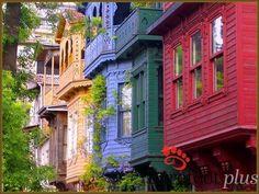 Old houses in Uskudar, Istanbul, Turkey