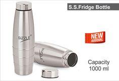 Sizzle Fridge Water Bottle 1000 ml 2 Pc Set SFB-501