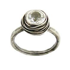 Nested White Topaz Engagement Ring | Gemstone Engagement Rings | Turtle Love Co.