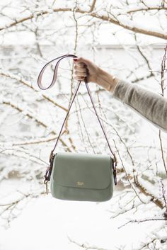 The Harper Crossbody handbag in seaglass is the perfect bag to take you from winter to spring. @shaylalilian