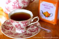 Host an autumn tea party with these fall tea party menu ideas, pretty place settings, and a recipe for gluten-free apple cake. It's tea time! Pumpkin Spice Tea, Gluten Free Apple Cake, Tea Party Menu, My Cup Of Tea, Tea Cup, Autumn Tea, Teapots Unique, Night Time Routine, Fall Recipes