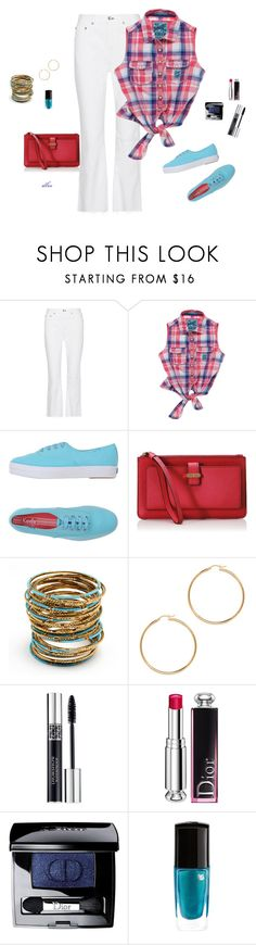 """""""Blue"""" by dmiddleton ❤ liked on Polyvore featuring rag & bone, Superdry, Keds, Kate Spade, Amrita Singh, Christian Dior and Lancôme"""