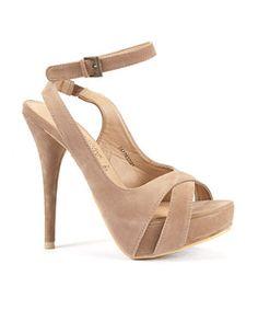 Nudge / beige high heels