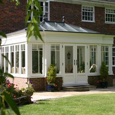 If you're who wish to include a conservatory green-house to your current residence, this information gives you tons of inspirational ideas regarding how to get you nature. Garden Room Extensions, House Extensions, House Extension Design, House Design, Orangerie Extension, Kitchen Orangery, Porch Enclosures, Four Seasons Room, Sunroom Addition