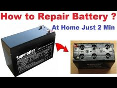 How to Recover 12 Volt Battery | Repair Shield Lead Acid Battery, UPS Battery at Home shop online - YouTube