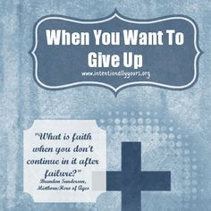 What do you do when you have seen too much, been through more pain than you ever thought possible, and you want to give up? Read more: http://wp.me/p2D62P-1vp