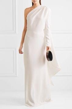 Gareth Pugh | One-shoulder crepe gown | NET-A-PORTER.COM