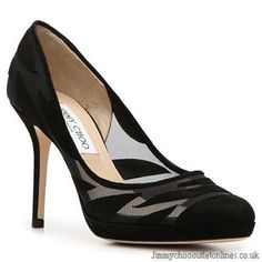 Jimmy Choo Kerwick Suede & Mesh Shoes Black I'm famous!