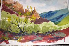 Desert Watercolor Set of 3... cool