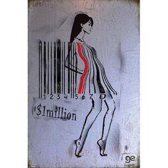 (24x36) Ge Feng (Barcode Girl) Art Poster Print