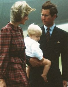 August 15, 1983: Prince Charles & Princess Diana at Aberdeen airport en route to Balmoral to join Queen Elizabeth II and other members of the royal family for the summer holiday.