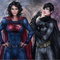 °Genderbend°⚫ • Artist | @jasricart | DeviantArt  #batman #superman #batwoman…